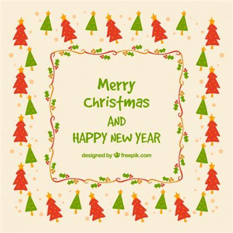 weihnachtsbaum karte download der kostenlosen vektor