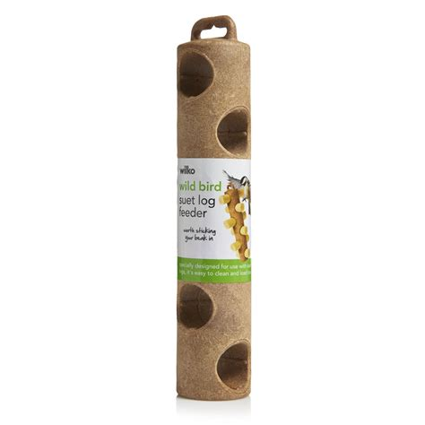 wilko wild bird suet log feeder at wilko com