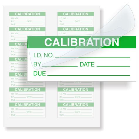 Calibration Id Calibration Labels Green On White Sku Qc 125 Sl150 Calibration Label Template