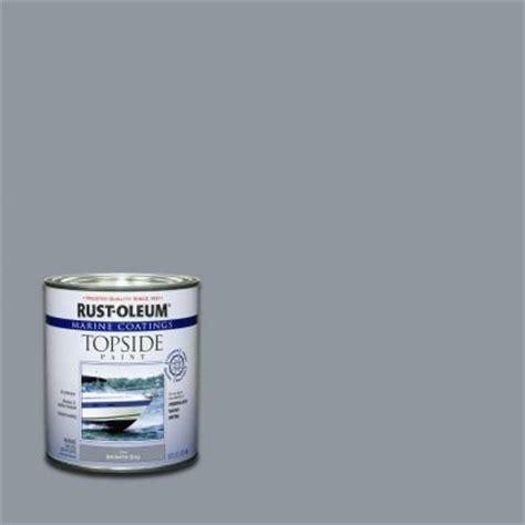 rust oleum marine 1 qt gloss battleship gray topside paint of 4 207005 the home depot