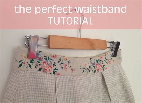 drumline tutorial how to sew the perfect waistband by hand london