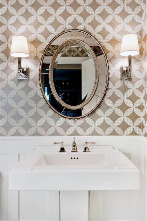 Powder room wallpaper ideas powder room traditional with pedestal sink pedestal sink wall lighting