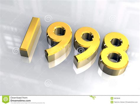 new year 1998 animal new year 1998 in gold 3d royalty free stock images