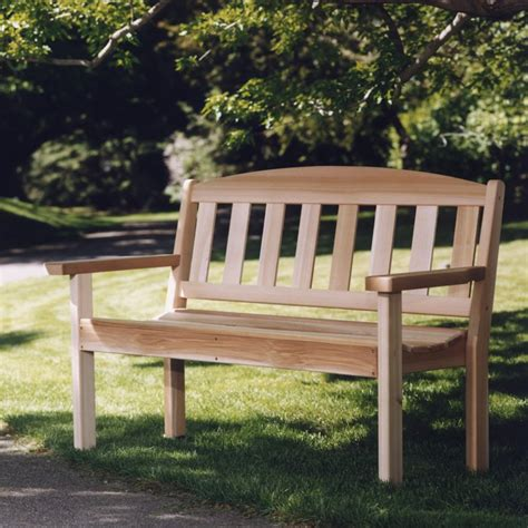 garden bench kit wooden garden bench clear western red cedar unassembled