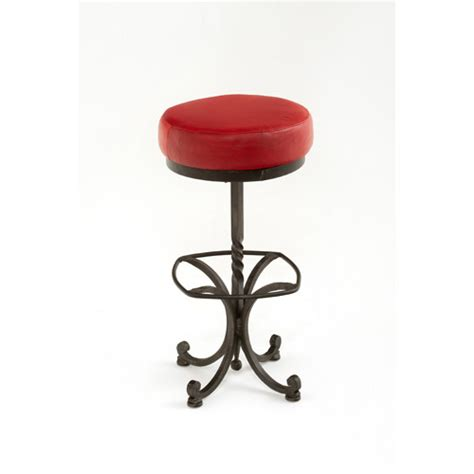 steel traditions safford swivel barstool with leather