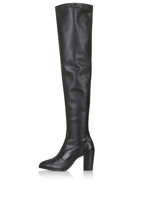 commander thigh high boots boots shoes topshop europe