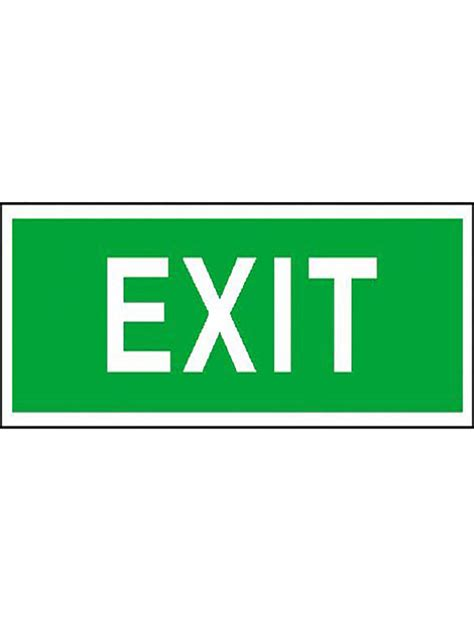 Exit Sign by Exit Sign Green Luminous Small Firex