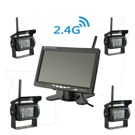 cheap wireless 4 security system with 7 lcd monitor