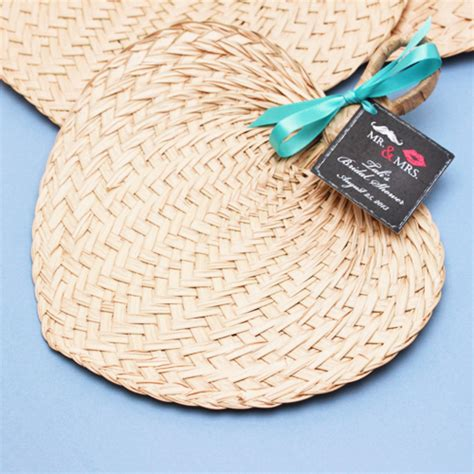 palm hand fans wedding favors mini palm bamboo hand fans 10 pcs palm and bamboo hand
