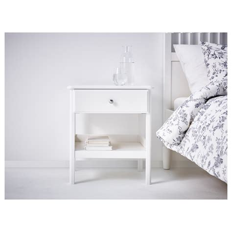 ikea bedside table tyssedal bedside table white 51x40 cm ikea