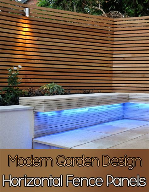 landscape layout horizontal quiet corner horizontal fence panels modern garden design