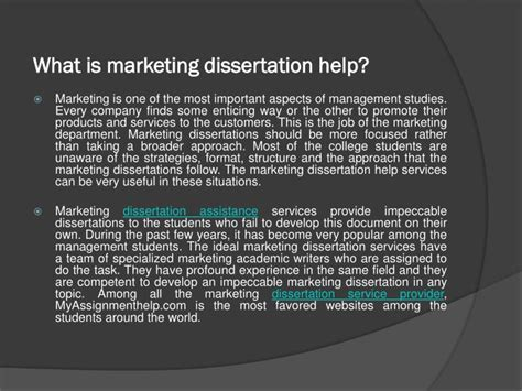 dissertations help ppt how to select a topic for dissertation marketing