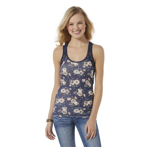 Best Seller Tank Top Lace seventeen junior s lace trim tank top floral shop your