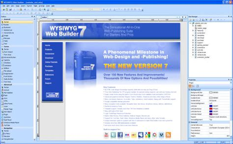 tutorial web builder 10 wysiwyg web builder screenshot
