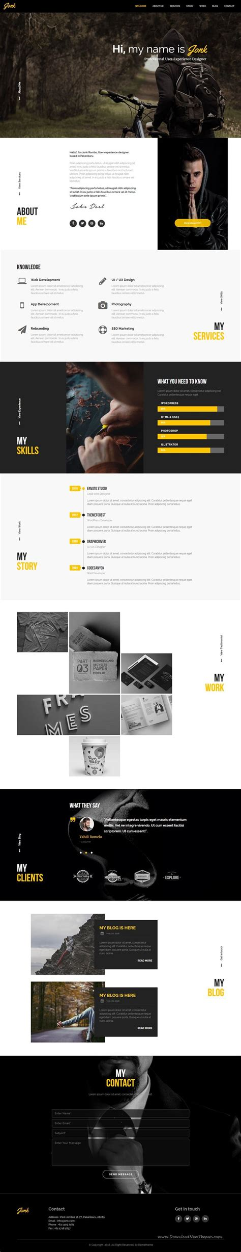 Jonk Cv Resume Personal Muse Template Iconos Musa Y Curr 237 Culum Programmer Personal Website Template