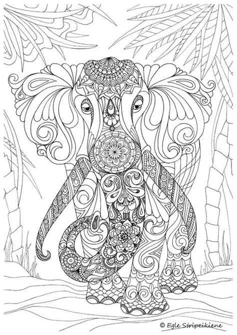 coloring pages for adults elephant coloring page for adults elephant by egle stripeikiene