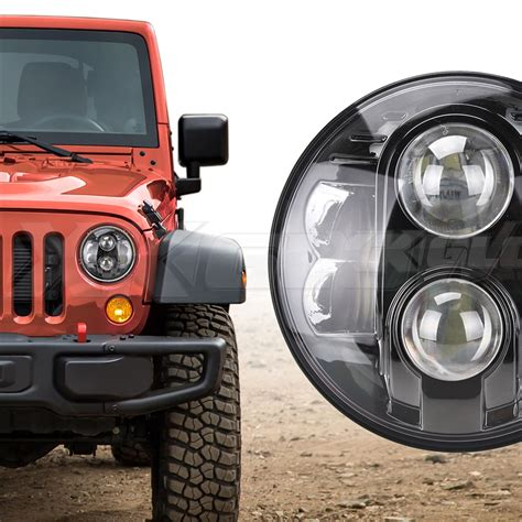 Jeep Yj Led Headlights Xkglow 7in Led Headlight With Black Chrome Front For