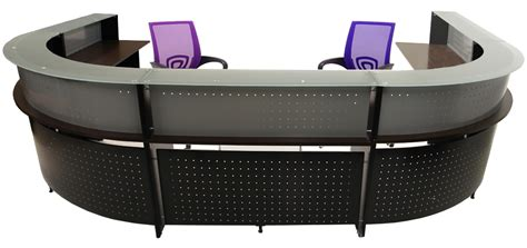 glass top reception desk u shaped 2 person glass top reception desk