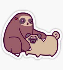 Macbook Aufkleber Löwe by Cfire Sloth Sticker By Saradaboru Faultier Sticker