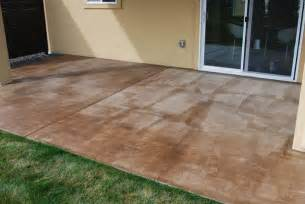 How To Clean Stained Concrete Patio by Concrete Patio Stain Ideas Decodir