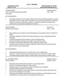 Commercial Banking Relationship Manager Sle Resume by Resume Of Alex Freeman Operations Manager Administrative Manager S