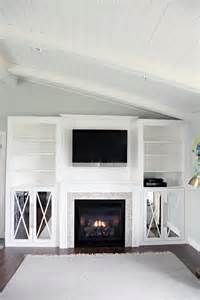 fireplace built ins iheart organizing diy fireplace built in tutorial