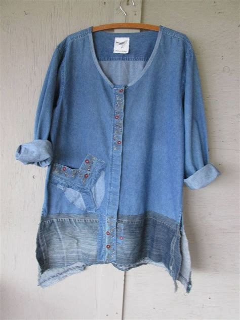 Tunic Shirtdress Or Supposed Wear Some With That by 25 Best Ideas About Denim Tunic On Blue V