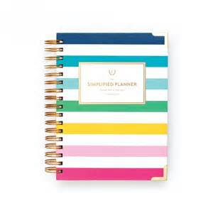 planner com 2017 simplified planner 174 daily happy stripe stripe