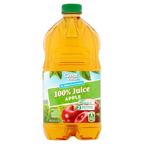 apple juice calories great value 100 apple juice nutrition facts nutrition ftempo