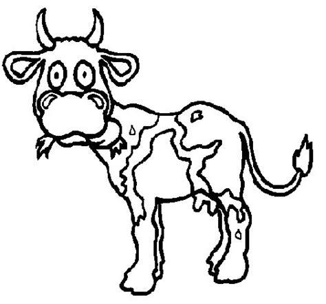 imagenes para colorear vaca dibujo de vaca para colorear dibujos net