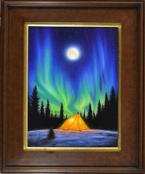 northern lights painting for sale original northern lights painting quot a beautiful