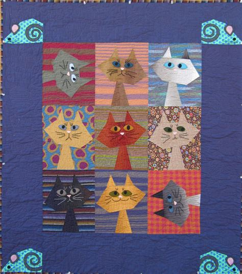 Free Cat Quilt Patterns by Quilt Inspiration Free Pattern Day Cat And Quilts