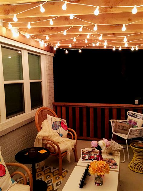 lights on patio the best outdoor patio string lights patio reveal