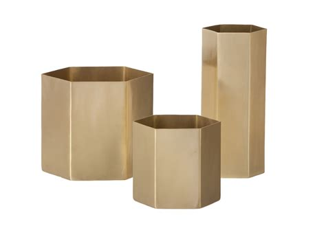 Standard Bathroom Dimensions hexagon pencil holder gold by ferm living