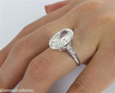 Wedding Rings Oval by 5 67ct Estate Vintage Oval Engagement Wedding Ring