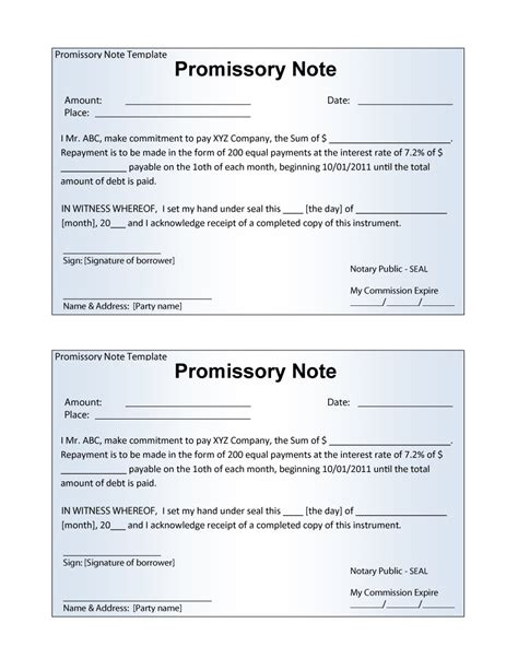 free online promissory note template 45 free promissory note templates forms word pdf