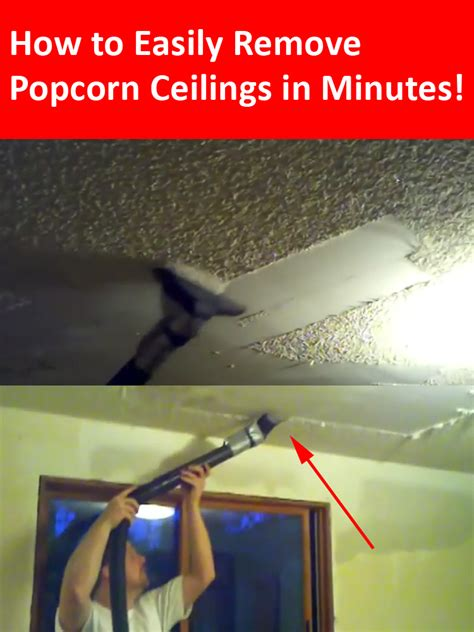how to remove popcorn ceilings in less than 10 minutes