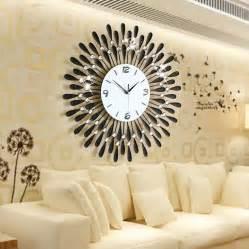 Stylish Living Room Clocks Home Decoration Wall Clock Modern Living Room Large Wall