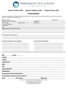 clearance for surgery template surgical clearance form in word and pdf formats