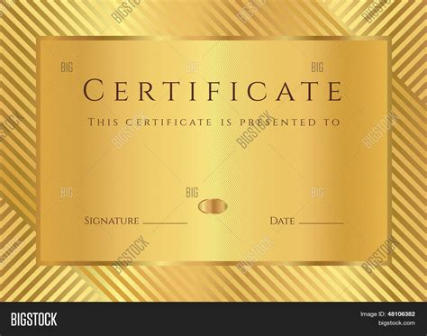 gold certificate template gold certificate diploma of completion design template