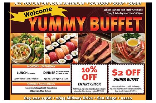 yummy buffet coupons