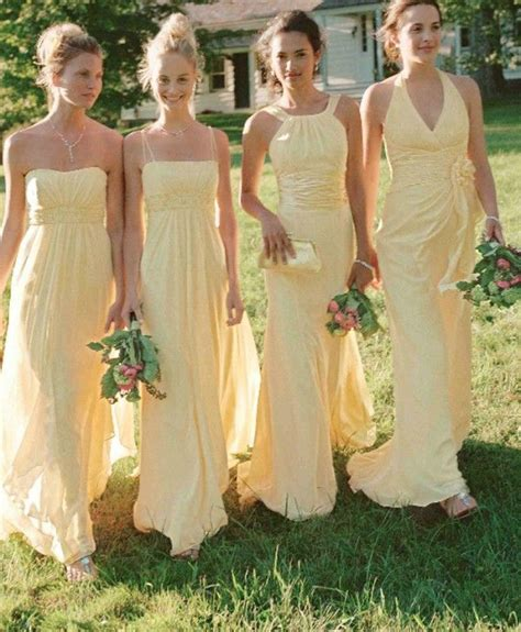 Yellow Bridesmaid Dress by Bridesmaid Dresses In The Most Popular Wedding Colours Of