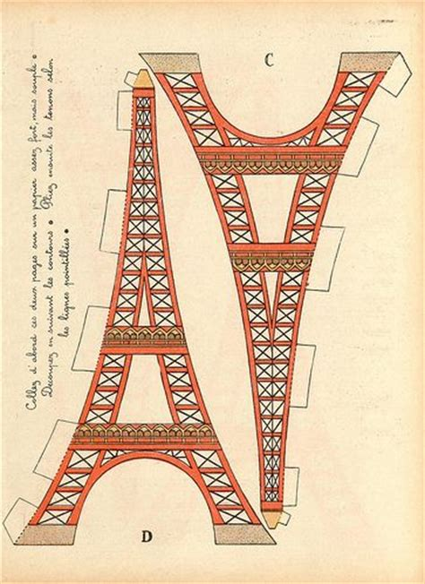 eiffel tower crafts for eiffel towers towers and craft patterns on