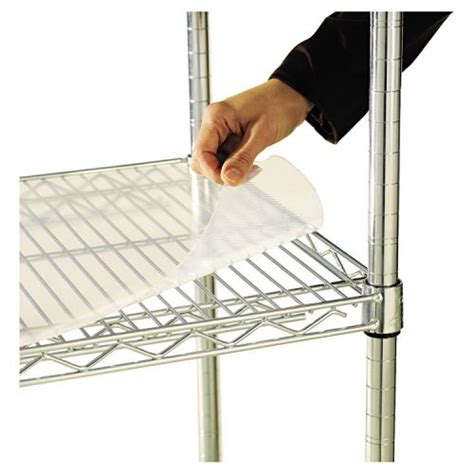 alera 174 shelf liners for wire shelving clear plastic 48w