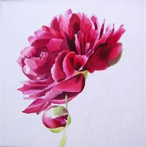 Pink Art Desk Moo Facebook Pink Peony In Watercolor