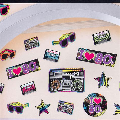 developgo 80 html themes pack 1980s theme party supplies totally 80s decorating value pack