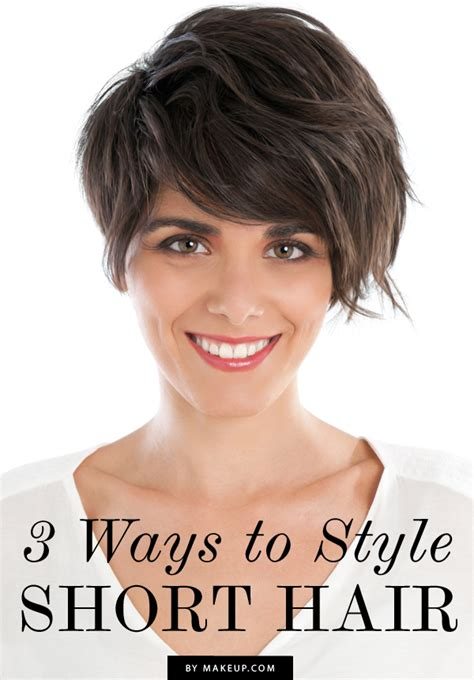 ways to style short hair for women over 50 3 ways to style short hair makeup com