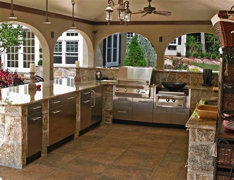 backyard kitchens stainless steel cabinets for your outdoor kitchen trend