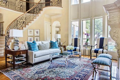southern home interiors blue based redesign blends traditional and fresh d 233 cor