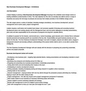 business manager description template business development description template 10 free